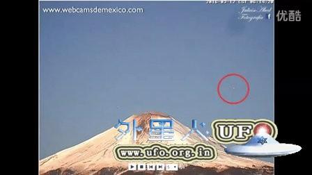 2016年3月12日墨西哥火山上空多个UFO的图片