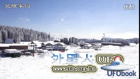 2016年3月16日德国滑雪场2个转圈的发光UFO (中文)的图片