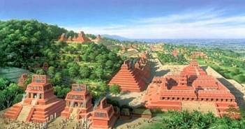 百年古玛雅城市Holtun:三尖金字塔的图片