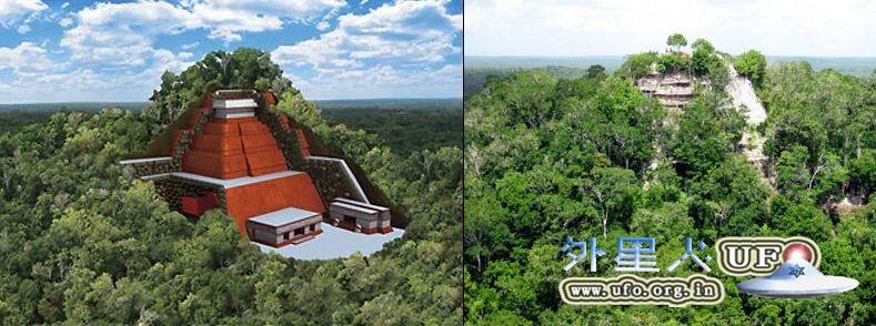 百年古玛雅城市Holtun:三尖金字塔的图片 第2张