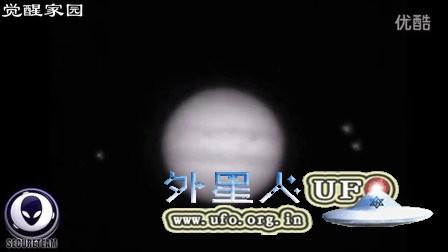 木星的闪光区与附近3个光球UFO的关系的图片