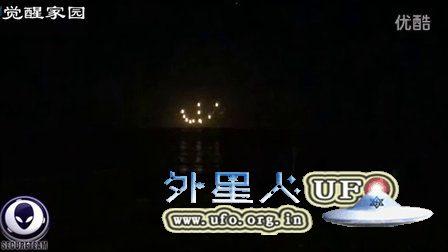 2016年4月19日太平洋上10个UFO光球组成的图案的图片