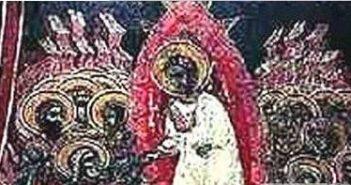 古老教堂壁画证据表明耶稣是外星人派来的使者的图片