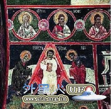 古老教堂壁画证据表明耶稣是外星人派来的使者的图片 第2张