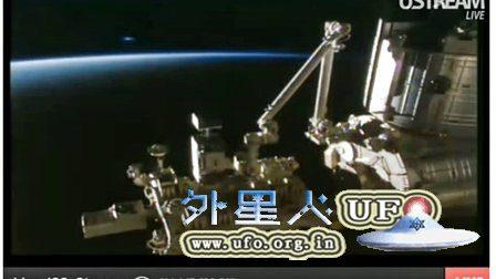 2016年4月5日国际空间站拍到地平线上的外星UFO飞走(每小时以数万英里的速度)的图片
