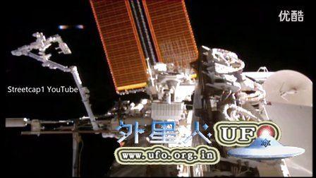 2016年4月巨大外星UFO近距离观察国际空间站后离去的图片