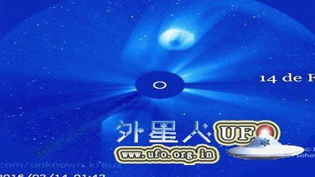 2016年4月22日太阳附近拍到巨大的UFO的图片
