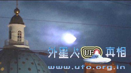 不明飞行物2016年群众目击UFO蓝色光在圣彼得堡的图片
