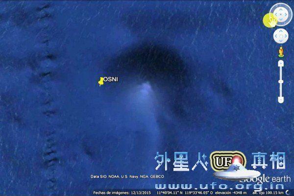 谷歌地球发现海底金字塔形结构 边长达十几公里的图片 第1张