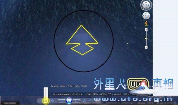 谷歌地球发现海底金字塔形结构 边长达十几公里的图片 第3张