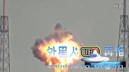 2016年9月1日SpaceX猎鹰9号火箭被ufo击毁爆炸_的图片