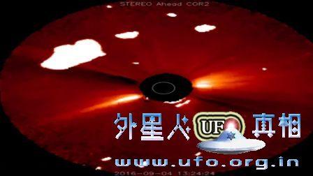 2016年9月4日大过太阳的云状发光UFO的图片