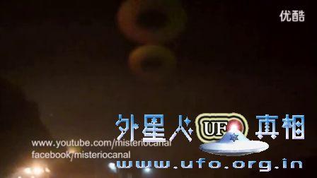 泰国上空出现3个巨大的环形UFO的图片