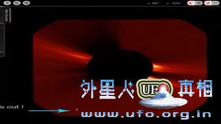 2016年9月12日太阳周围Y型UFO的图片