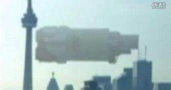 2012年2月14日巨大的飞碟母船 出现在加拿大伦多的图片