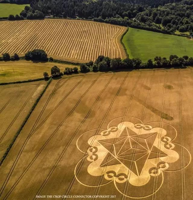 2017年7月18日英国出现麦田怪圈 图片2 第1张