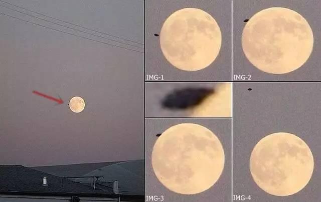 地震前夕巨大UFO飞向月球 第4张