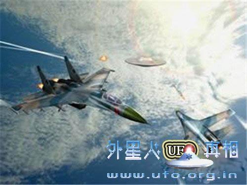 美国战机追UFO
