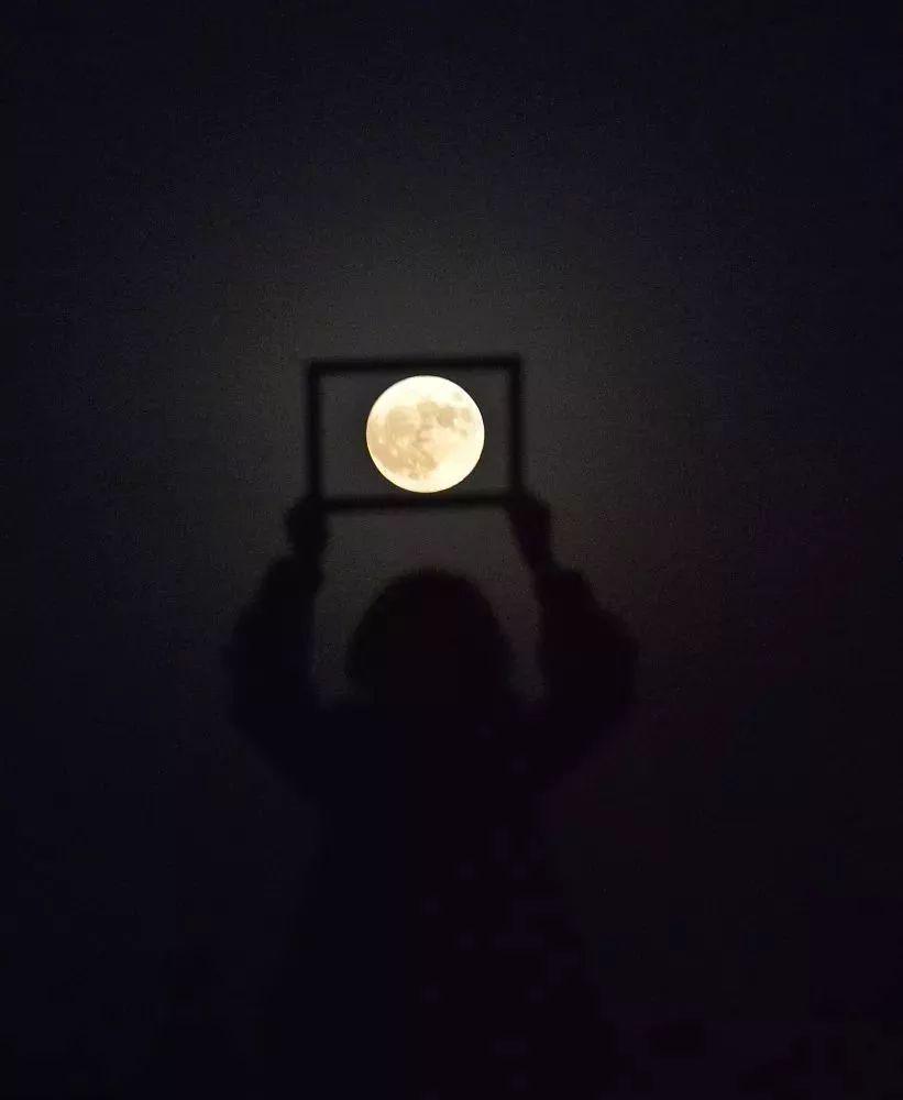 """超级月亮合影姿势:看我举起方框,把月亮 """"封印""""进去 第8张"""