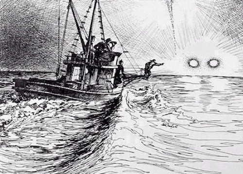 沙格港UFO事件手绘图 1 第1张