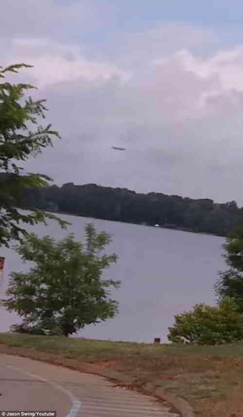 2018年5月29日在夏洛特附近的诺曼湖附近发现UFO