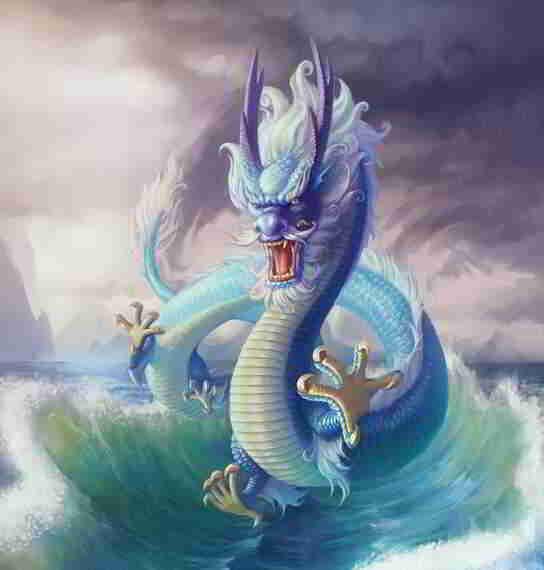 画中的龙是一种长形动物:有角、有鳞片、有髯、足有五个爪子 第2张