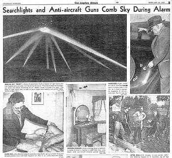 《洛杉矶时报》于1942年2月26日发布了洛杉矶UFO之战 第2张