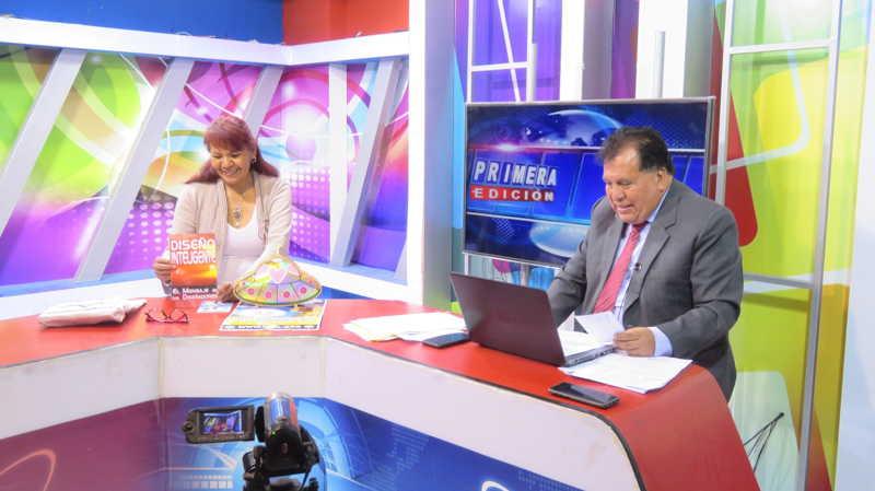 """在秘鲁安卡什市瓦拉斯市的电视节目""""Primera Edicaon""""中,对秘鲁Raelian Movement的愉快采访。 第10张"""