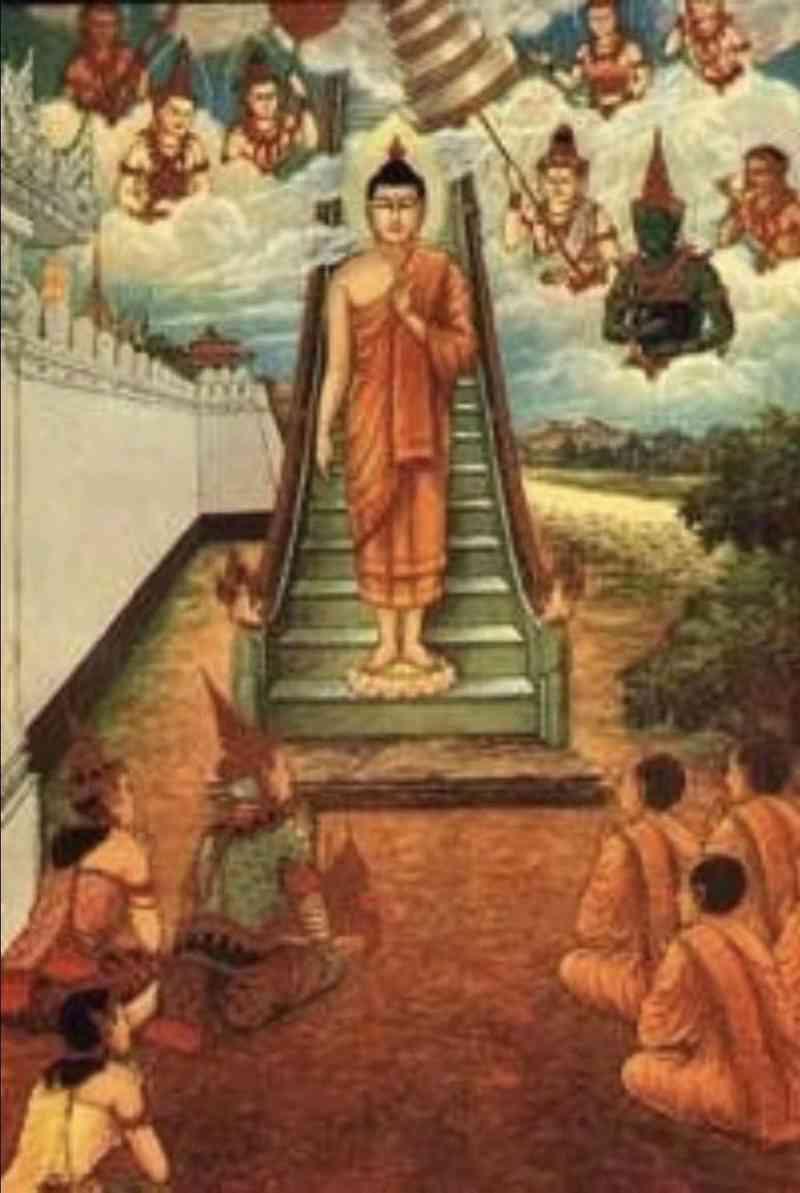 """佛陀行使的八大奇迹之一的""""三道宝阶"""",现代被解释为""""飞碟的阶梯"""" 第4张"""
