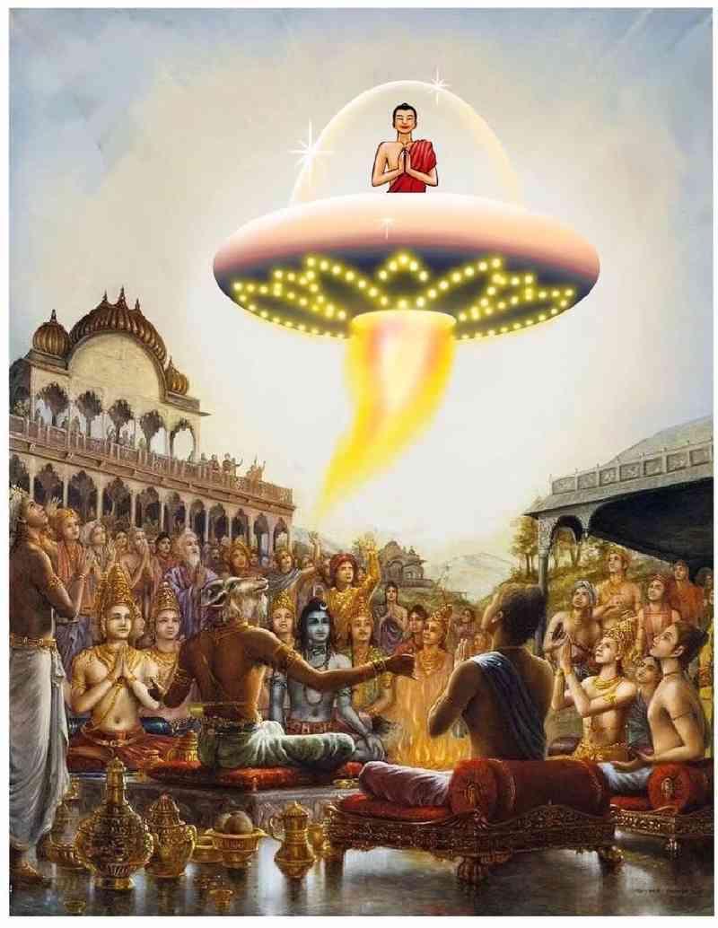 佛陀在世时,乘坐外星人耶洛因的飞碟(轮宝),访问过耶洛因的星球(极乐世界) 第3张
