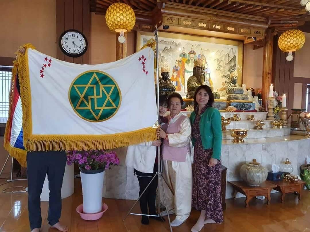 韩国江华岛檀君朝鲜寺庙发现外星人耶洛因无限徽章